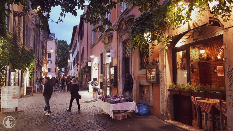 Trastevere night street