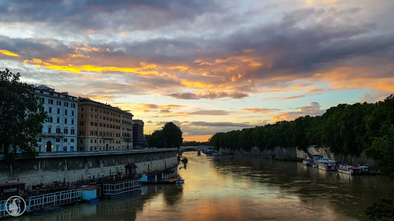 sunset ponte cavour