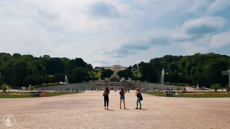 Gloriette and fountain