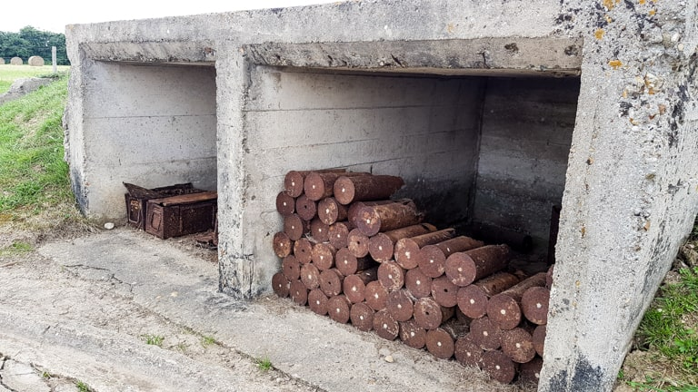 Cannon shells at Merville