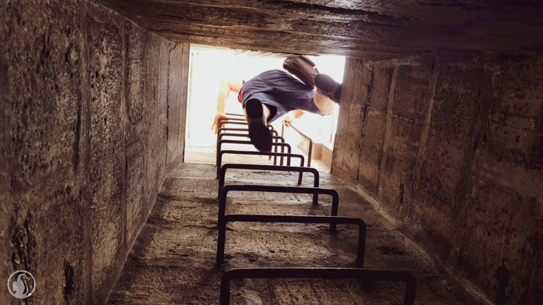 Grand bunker stairs