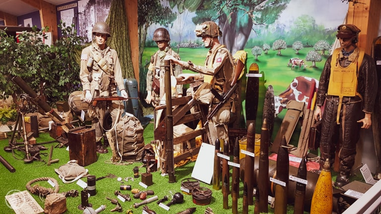 American soldiers and gear