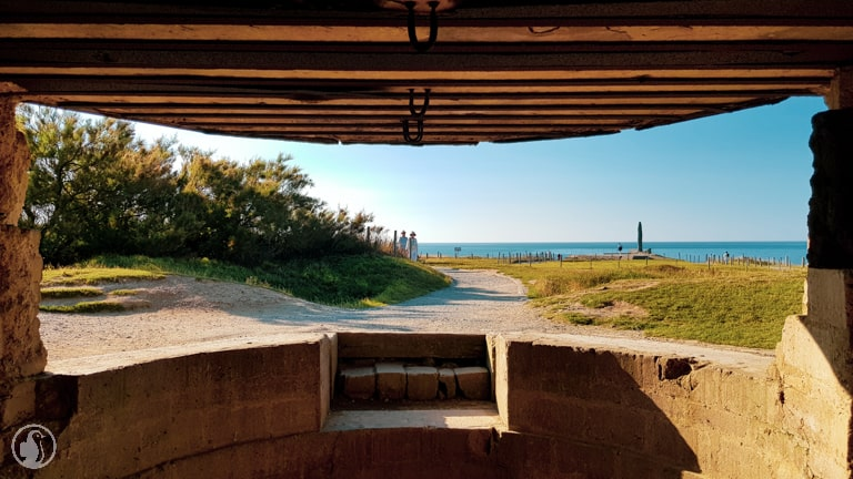 View from bunker