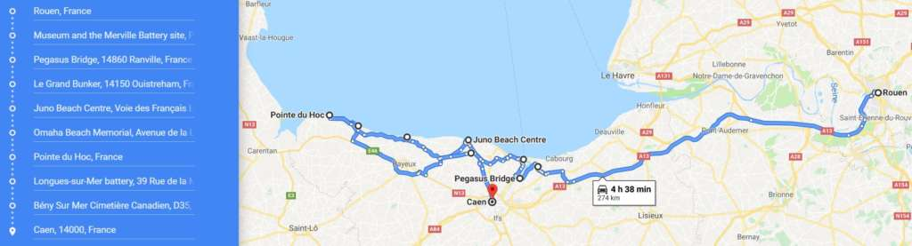tour in Normandy