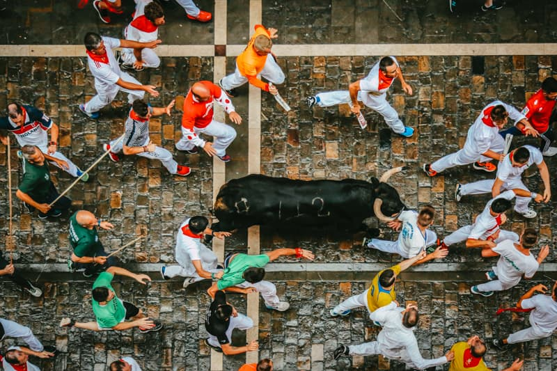 Running of the Bulls, Pampola