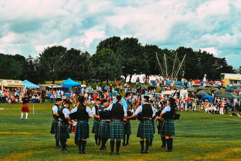 The Highland Games circle