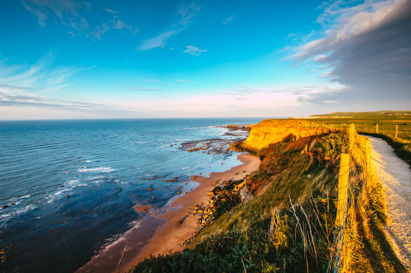 Whitby Beach Up View
